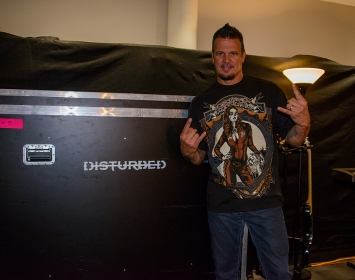 Dan Donegan of Disturbed wears Barmetal