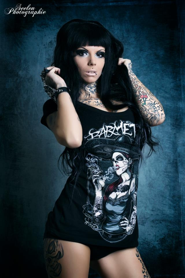 Barmetal Clothing Lady Tattoo Cat